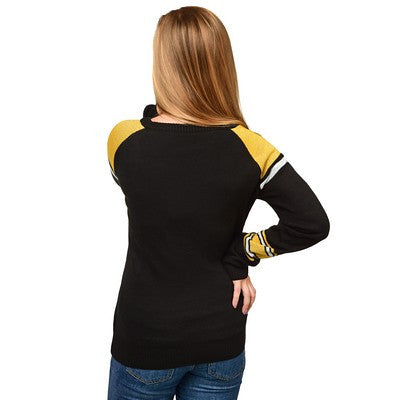 Pittsburgh Steelers Official NFL Glitter Scoop Neck Sweater