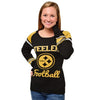 Pittsburgh Steelers   Official NFL Official Nfl Glitter Scoop Neck Sweater (PRE-ORDER EXPECTED TO SHIP END OF OCTOBER)