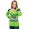 Seattle Seahawks   Official NFL Official Nfl Glitter Scoop Neck Sweater (PRE-ORDER EXPECTED TO SHIP END OF OCTOBER)
