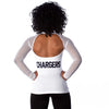 "San Diego Chargers Women's Official ""Wildkat"" White Top"