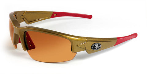 San Francisco 49ers Men's NFL Maxx Dynasty Sunglasses and Free Micro Fiber Case