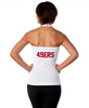 "San Francisco 49ers Women's Official NFL ""Blown Coverage"" White Halter"