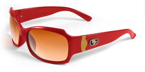 San Francisco 49ers Women's NFL Bombshell Sunglasses and Free Micro Fiber Case