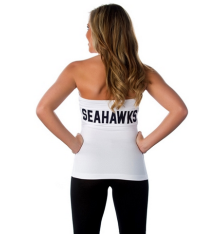 "Seattle Seahawks Women's Official NFL ""Blown Coverage"" White Halter"