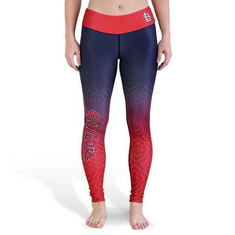 St Louis Cardinals Womens Gradient Official MLB Print Leggings