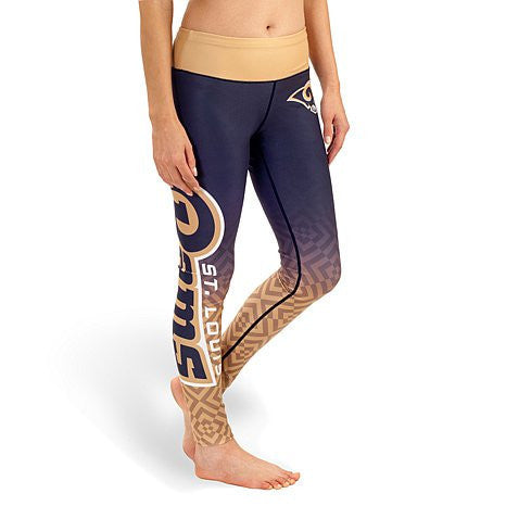 St Louis Rams Womens Gradient Official NFL Print Leggings