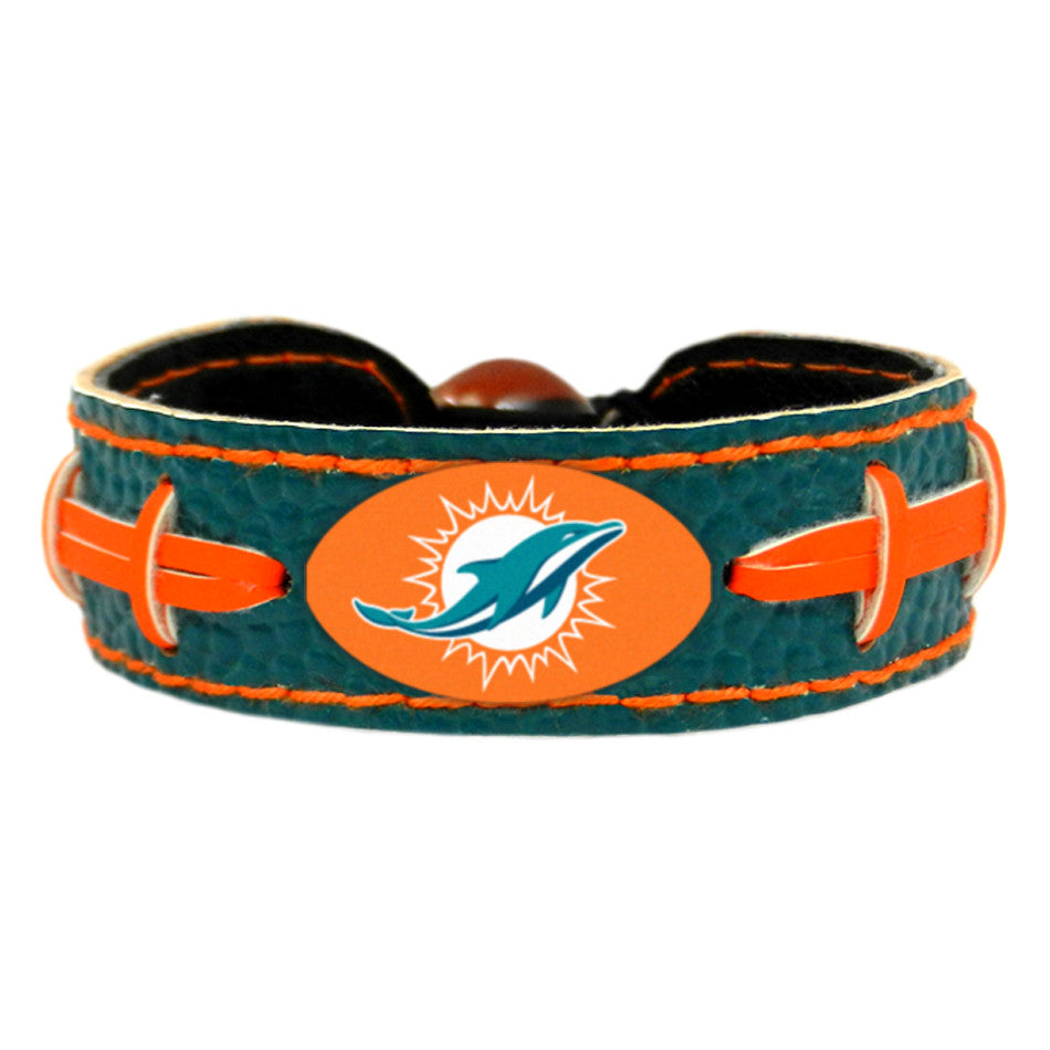 Miami Dolphins Official NFL Team Color  Bracelet