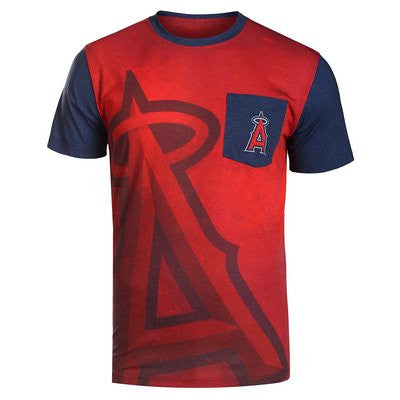 LOS ANGELES ANGELS Official MLB Pocket Logo Tee