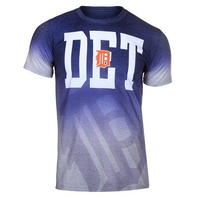 Detroit Tigers Official MLB Gray Gradient Tee