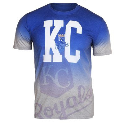 Kansas City Royals Official MLB Gray Gradient Tee