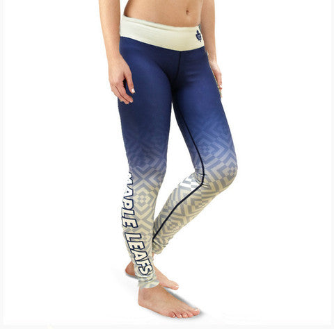 Toronto Maple Leafs Womens Official NHL Gradient Print Leggings