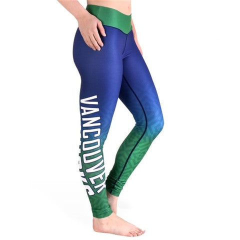 Vancouver Canucks Womens Official NHL Gradient Print Leggings