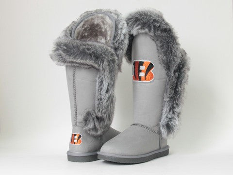 "Cincinnati Bengals Women's Cuce Official NFL ""Winner"" Boots"