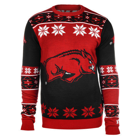 Arkansas Razorbacks Official Men's NCAA Big Logo Sweater by Klew