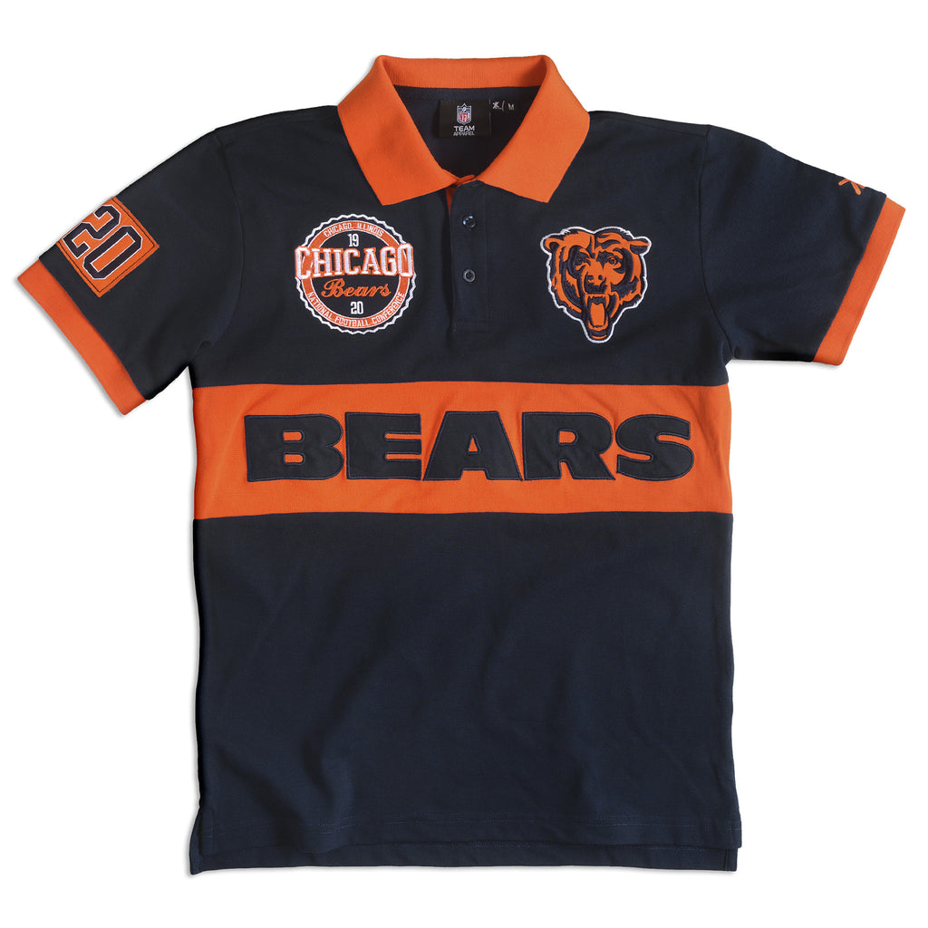 Chicago Bears Official NFL Wordmark Cotton/Poly Polo
