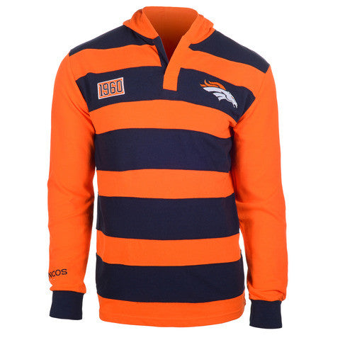 Denver Broncos Official NFL Cotton Rugby Hoody by Klew