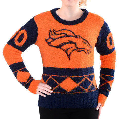 Denver Broncos Women's Official NFL Ugly Sweater - Choose your Style!