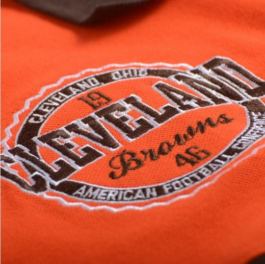 Cleveland Browns Official NFL Wordmark Cotton/Poly Polo