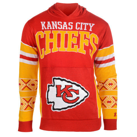 "Kansas City Chiefs Official NFL ""Big Logo"" Hooded Sweatshirt by Klew"