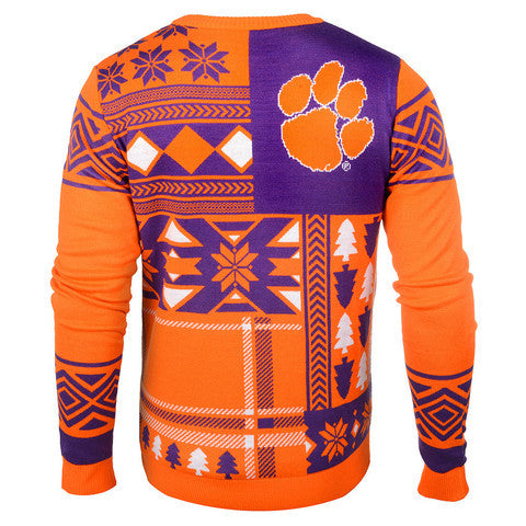 "Clemson Tigers Official Men's NCAA ""Ugly Sweater"" by Klew"