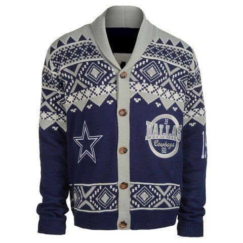 Dallas Cowboys Official NFL Cardigan Sweater
