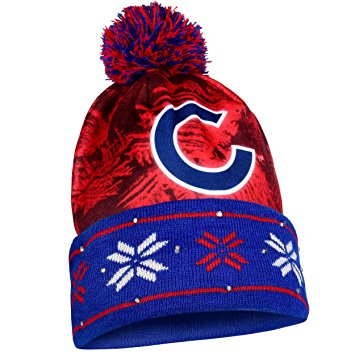 Chicago Cubs Official MLB Camouflage Light Up Printed Beanie