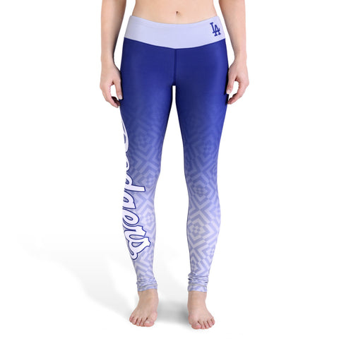 Los Angeles Dodgers Womens Gradient Official MLB Print Leggings