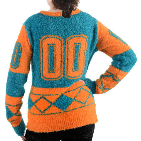 Miami Dolphins Official NFL Women's Eyelash Sweater