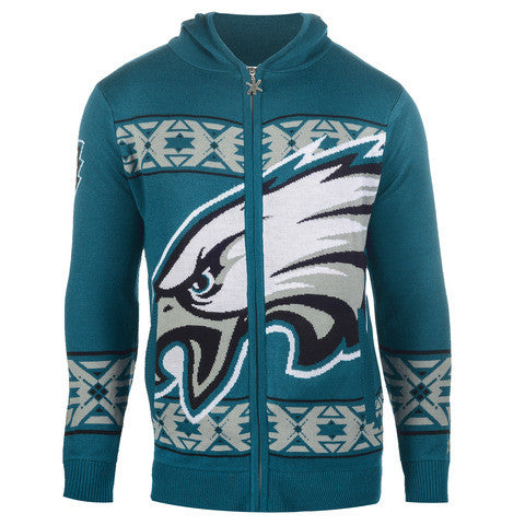 Philadelphia Eagles Official NFL Full Zip Hooded Sweatshirt