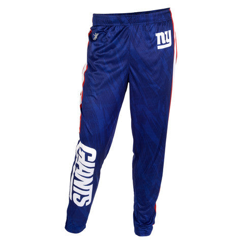 New York Giants Official NFL Men's Tapered Zip Up Pants