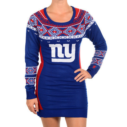 New York Giants Official NFL Sweater Dress by Klew