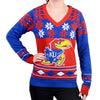 "Kansas Jayhawks Women's Official NCAA ""Big Logo"" V-Neck Sweater by Klew"
