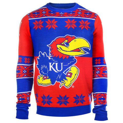 Kansas Jayhawks Official Men's NCAA Big Logo Sweater