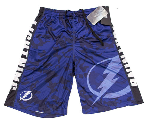 Tampa Bay Lightning Official NHL Big Log Camo Shorts