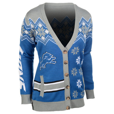 Detroit Lions Women's Official NFL Cardigan Sweater