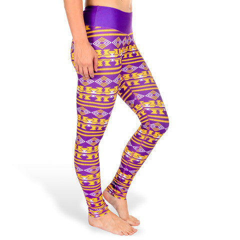 LSU Tigers Women's Aztec Print Leggings