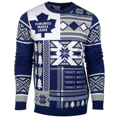 "Toronto Maple Leafs Official NHL Men's ""Ugly Sweater"""