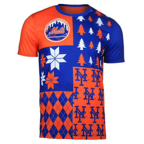 New York Mets Official MLB Busy Block Tee by Klew