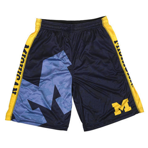 Michigan Wolverines Official NCAA Big Log Camo Shorts