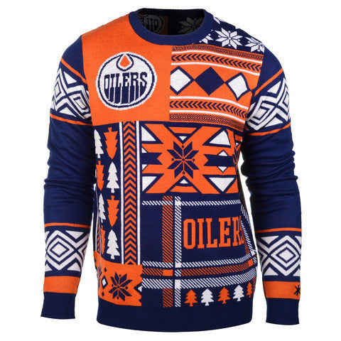 "Edmonton Oilers Official NHL Men's ""Ugly Sweater"" by Klew"