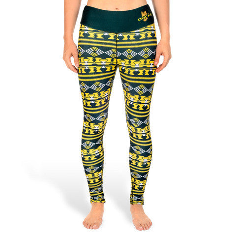 Oregon Ducks Tide Women's Aztec Print Leggings