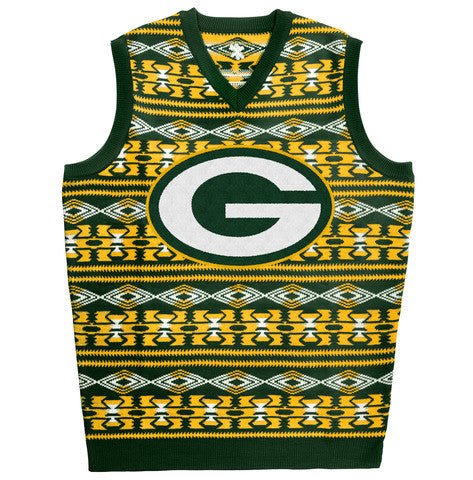 "Green Bay Packers Official NFL Men's ""Aztec"" Vest by Klew"