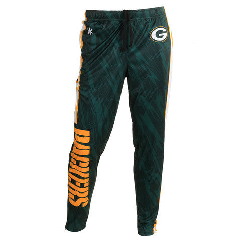 Green Bay Packers Official NFL Men's Tapered Zip Up Pants