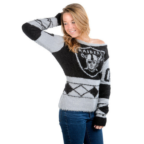 Oakland Raiders Official NFL Women's Eyelash Sweater