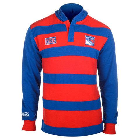 New York Rangers Official NHL Cotton Rugby Hoody by Klew