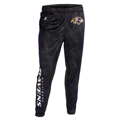 Baltimore Ravens Official NFL Men's Tapered Zip Up Pants