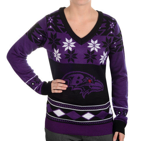 Baltimore Ravens Women's Official NFL Ugly Sweater - Choose your Style!