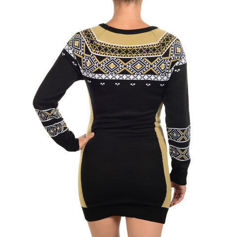 New Orleans Saints Official NFL Sweater Dress by Klew