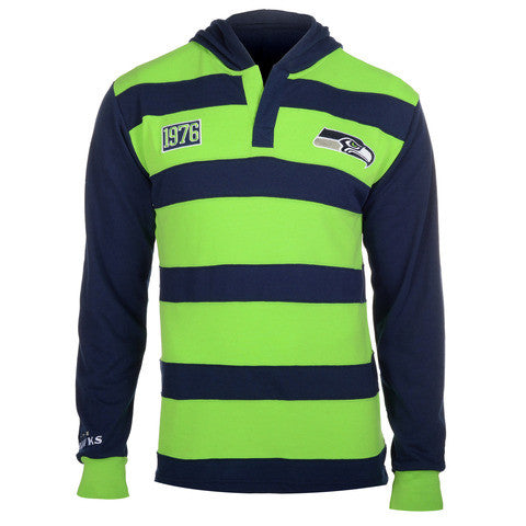 Seattle Seahawks Official NFL Cotton Rugby Hoody by Klew