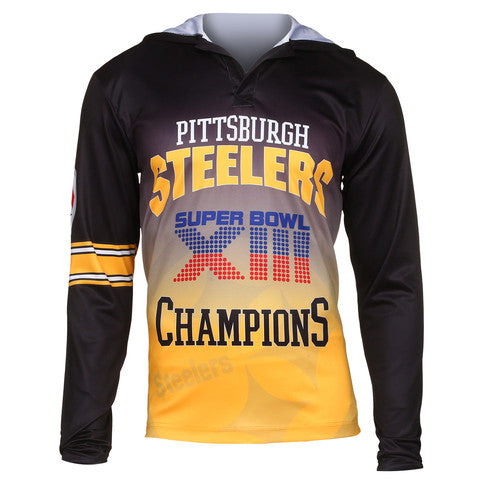 Pittsburgh Steelers Super Bowl XIII Official NFL Champions Poly Hoody Tee